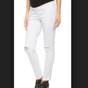DL1961 Emma Maternity Distressed Jeans in white